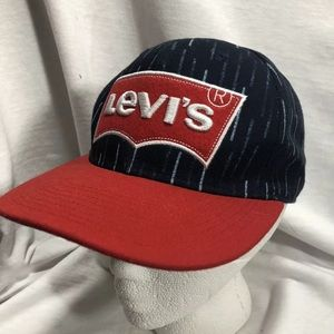 4/$35 Youth Levi's Cap Hat Snap Back Red Blue